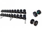 Гантель с обрезиненными дисками IronMaster 45 kg IR92302