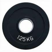 Диск олимпийский черный обрезиненный (1,25 кг)
