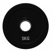 Диск олимпийский черный обрезиненный (5 кг)
