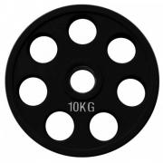 Диск олимпийский черный обрезиненный (10 кг)