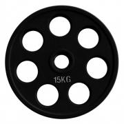 Диск олимпийский черный обрезиненный (15 кг)