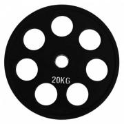 Диск олимпийский черный обрезиненный (20 кг)