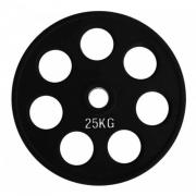 Диск олимпийский черный обрезиненный (25 кг)